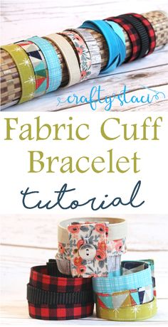 Tutorial: Scrap fabric cuff bracelet Fabric Cuff Bracelet Tutorial from Easy Sewing Projects, Sewing Projects For Beginners, Sewing Hacks, Sewing Tutorials, Sewing Tips, Dress Tutorials, Armband Tutorial, Bracelet Tutorial, Fabric Bracelets