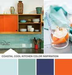 19 ideas kitchen colors schemes orange bedrooms for 2019 blue orange kitchen, orange Kitchen Color Palettes, Orange Color Palettes, Kitchen Colour Schemes, Kitchen Colors, Color Schemes, Orange Palette, Colour Combinations, Deco Orange, Orange And Turquoise