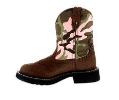 Justin® Women's Camo and Aged Bark Gypsy Cowgirl. Boots #pink #Camo #Camouflage #SaddleVamp