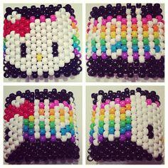 Kitty Rainbow Kandi Cuff  Can't wait until mine is finished x3