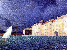Paul Signac - Saint-Tropez: LOrage, 1896. Oil on canvas, 46,5 x 55cm. Musée de lAnnonciade, Saint-Tropez, France
