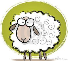 Illustration about Illustration of Sketch Cute Sheep with green background. Illustration of green, illustration, vector - 6127314 Cute Animal Drawings, Animal Sketches, Cartoon Drawings, Cute Drawings, Farm Cartoon, Sheep Cartoon, Cute Cartoon, Cartoon Lamb, Sheep Illustration