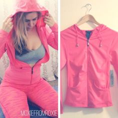 • new • sport zip up hoodie in coral NEW sport hoodie is the perfect addition to your workout. Contours the body with high quality stretch fabric and slims the waist for a lean physique. Pairs perfectly with our coral leggings or grey with coral piping leggings listed. One size. Soho Girls Tops Sweatshirts & Hoodies