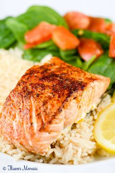 Cajun Blackened Salmon is a delicious, quick and easy, hugely flavorful, mildly spicy salmon filet that can be on the dinner table in less than 30 minutes. It can fit into a low carb, gluten free, or Paleo diets or eating plans.