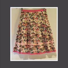 The coolest retro swing skirt The bomb!! Great print , great colors. Brings back the big band era! Bernado Skirts Midi