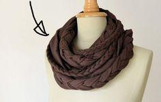Como hacer bufandas redondas de tela