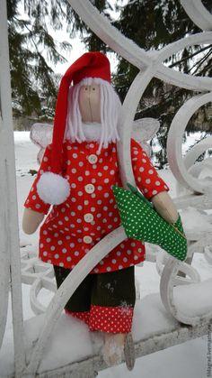 Купить тильда Ангел Добрых снов Новогодний Рождественский - ярко-красный, красно-зеленый, рождество