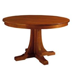 My favorite Stickley table.  62-inches and comes with 3 15-inch leaves.