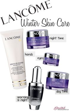 Pamper Skin this Winter with Skin Care from Lancôme. Winter with Skin Care from Lancôme. Skin Care Regimen, Skin Care Tips, Anti Aging Skin Care, Natural Skin Care, Sephora, Lancome Skin Care, Skin Care Routine For 20s, Dior, Beauty Tips