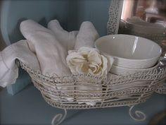 old linen napkins...