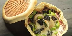 Scallops are baked in their shells with a salt crust lid in this beautiful seafood starter from Martin Wishart