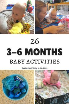 Playing with your baby is so important! Doing things like playing with discovery baskets, practicing sitting up and reading sensory books are great ways to challenge your baby! Click through to read more or repin for later! #babyplay #babyactivities #3months #4monthbaby #5monthold #6monthsold #sensoryplay #sensory #tummytime #baby #babytips #babygirl #babyboy #discoverytoys #childrensbook