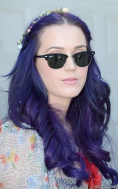 Katy Perry's purple hair