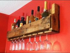 Wine Bottle/Glass Rack pallet tutorial video