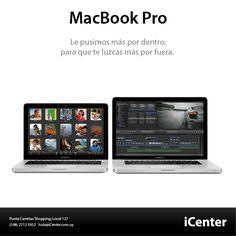 La MacBook Pro viene con poderosas funcionalidades que hacen que la gran portátil sea aún más grandiosa. Procesadores de ultima generación. Lo ultimo en gráficos. La E/S más rápida y versátil jamas vista en una portátil. Camara FaceTime HD. TrackPad Multi-Touch. Batería de larga duración. Excelente colectividad.