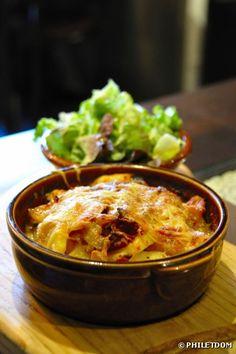 Recette bio : Gratin de topinambours et pommes de terre bio au jambon cru