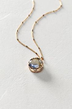 Labradorite Pendant Necklace in 14k Rose Gold by Arik Kastan #anthroregistry