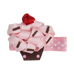 Cupcake Novelty Clip - Pink.. $8?! No way! Could easily make for $1/$2