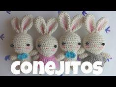Conejitos a crochet (bunny) - YouTube