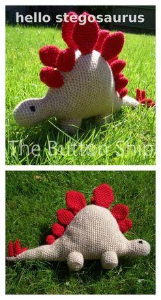 Crochet Amigurumi Dinosaur Stegosaurus Free Pattern