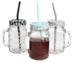 Juomapullo KRUSFLUE kannella Mason Jars, Mugs, Tableware, Outdoor Ideas, House, Feminine Fashion, Women, Balcony, Dinnerware