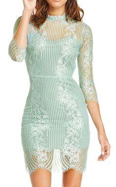 For Love & Lemons Rosette Lace Dress