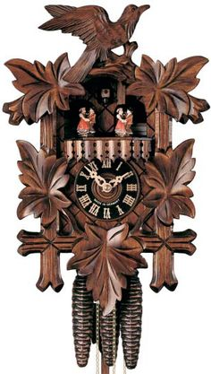 Traditional 1 day Five Leaf cuckoo clock by Hones What Is A Chalet, Happy Wanderers, Black Forest Wood, Betty Boop Cartoon, Clocks For Sale, Linden Wood, Thing 1, Grandfather Clock, Antique Clocks