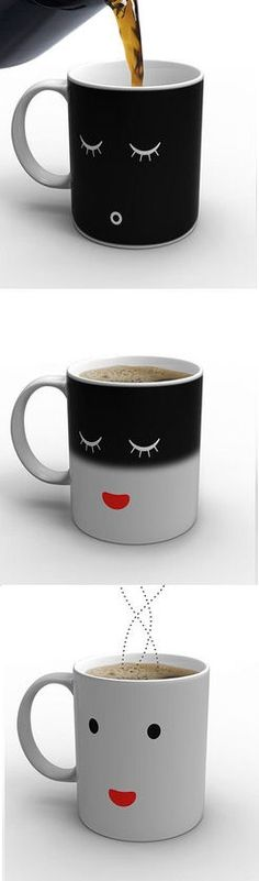 Monday Morning Mug <3 lol Before Coffee - After Coffee ... I Need this!