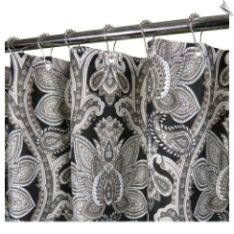 Black White Paisley Shower Curtain A Stunning Selection Of Color Choices Makes The