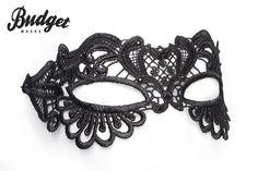 Budget Masks - Store - K-BM125 Zwart Mystiek Kanten masker € 25.95