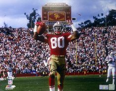 Jerry Rice Autographed With Rice Hologram & Gccsm Coa - deal categories Deforest Buckner, 49ers Players, Forty Niners, Jerry Rice, American Football Players, Nfl Photos, Sport Icon, Wide Receiver, Team Player