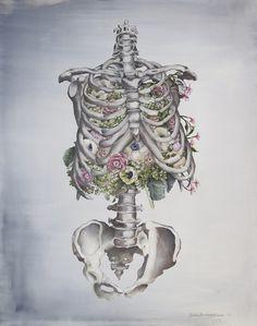 Floral Anatomy Art Print / Society 6 / Trisha Tompson Adams