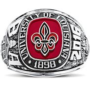 University Of Louisiana At Lafayette His Rings Image | Balfour | I love these rings!  #ull