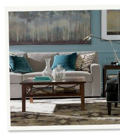Love this taupe sofa by Thomasville