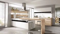 white-kitchen-wooden-counter-top