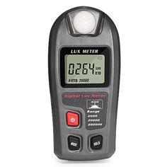 Lux Meter GrandBeing® Handheld LCD Light Meter Luminometer Photometer Measure Tester Measuring range 200,000LUX and 20,000FC wide Used in School Family Industry Warehouse Laboratory etc