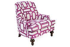 One Kings Lane - Taking Shape - Lolita Chair, Magenta