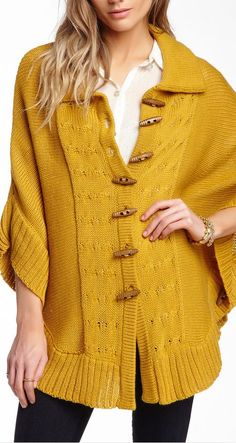 knit sweater cape