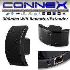 CONNEX Wifi Network Extender Repeater 300mbs  Internet home/office Windows/Linux #MicroMedia