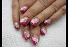 : színes zselé, French Nail Designs, Cute Nail Designs, Christmas Nail Designs, Christmas Nails, Finger Nail Art, Sparkle Nails, Nail Stickers, French Nails, Nail Arts