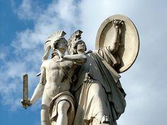 Diomedes and Athena, Schlossbrücke, Berlin