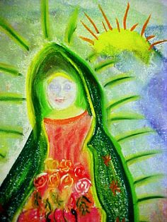 The Feast of Our Lady of Guadalupe by MarieStarkART on Etsy