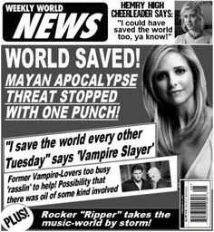 Twitter / BuffyQuotes101: World saved by Vampire Slayer! ...
