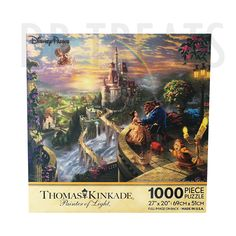 Disney Parks Thomas Kinkade Beauty and the Beast Falling in Love Jigsaw Puzzle 1000 Piece