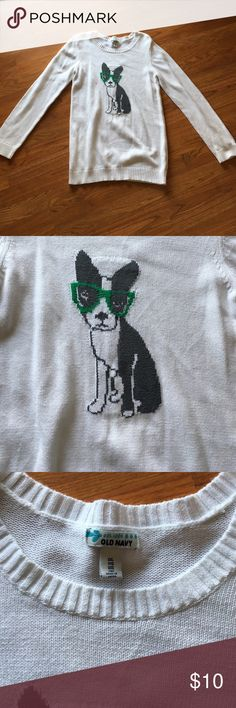 Old navy sweater Sz XXL with dog 🐶 in glasses EUC Great sweater, XXL, I used for maternity, only worn twice 🐶 Old Navy Sweaters Crew & Scoop Necks