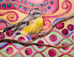 """Yellow Bird Whimsy"" - Heather Torres"