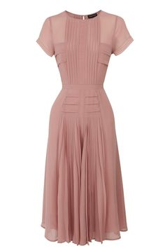 Pleated Bodice Skirt Midi Dress by JustcallmeLOVE