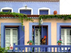 greek house colors | Maison couleur île grecque — Photographie 02lab © #12641284