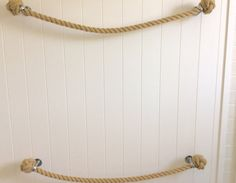 Nautical, natural and stylish!  Handmade Hemp look a like rope towel holder to suit bathroom or kitchen, but could use almost any room in home, boat, indoors or outdoors .  Very versatile towel rail, rack or holder.  This handmade nautical towel holder rack or rail comes with two solid marine fittings with a polished steel finish, and provides for that total nautical look and feel.  This towel rail is also available in Brass fittings which can be seen in other listings.  Just tick the type…