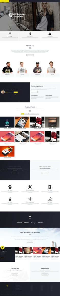 QUINS - BS creative template on Web Design Served